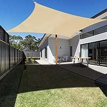 Ankuka Waterproof 10' x 10' Sun Shade Sail Canopy Rectangle UV Block for Outdoor Patio and Garden, Yard Activities, Yellow