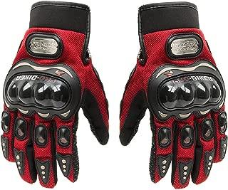 Tonsiki Carbon Fiber Motorcycle Motorbike Cycling Racing Full Finger Gloves