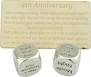 8 Year Anniversary Metal Date Night Dice - Create a Unique 8th Anniversary Date Night