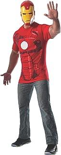 Rubie's Men's Marvel Universe Iron Man Costume T-Shirt and Eye Mask, Multi, X-Large