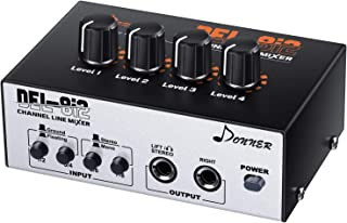 Donner DEL-8i2 4-Channel Stereo Line Headphone Mixer, Mini A