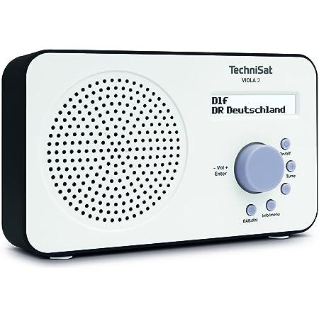 Technisat Viola 2 Tragbares Dab Radio Dab Ukw Lautsprecher Kopfhöreranschluss Zweizeiligem Display Tastensteuerung Klein 1 Watt Rms Weiß Schwarz Heimkino Tv Video