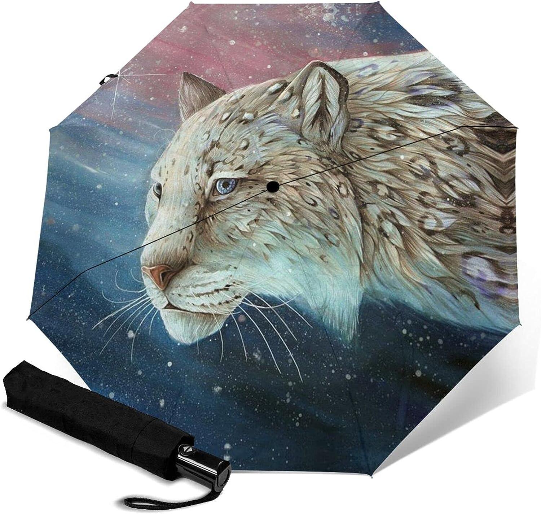 Snow 67% OFF of fixed price Leopard Print Automatic Waterproof Three-Folding Max 65% OFF Umbrella