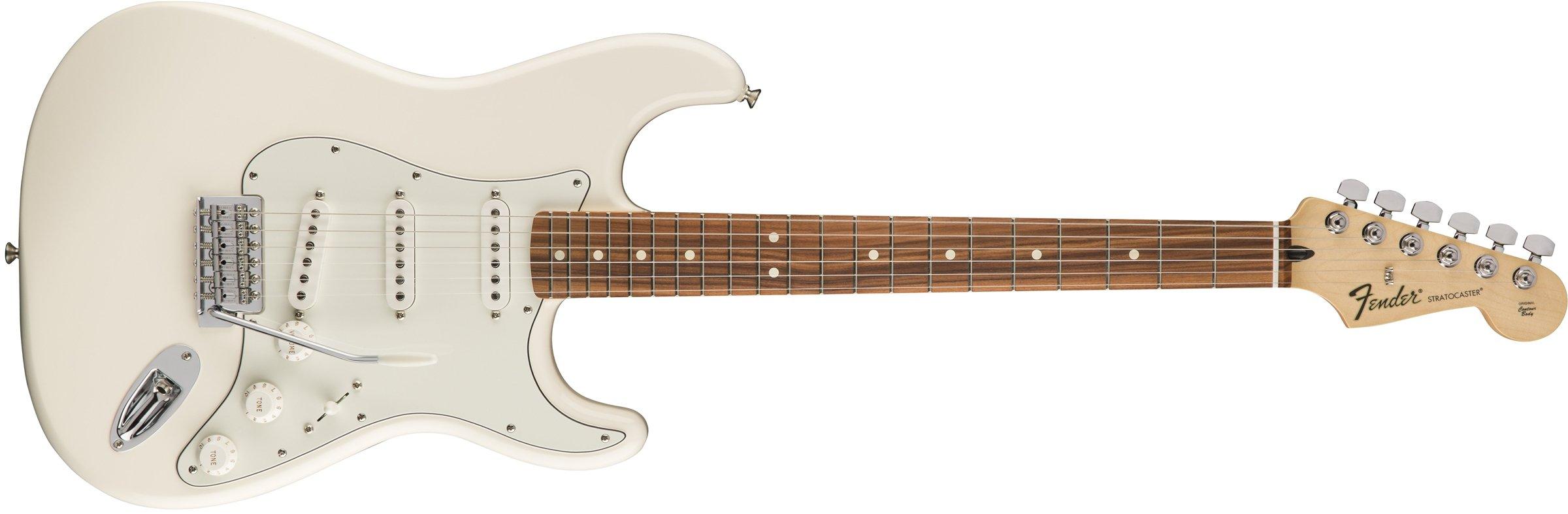 Cheap Fender 6 String Standard Stratocaster Electric Guitar-PAU Ferro Fingerboard Arctic White (144603580) Black Friday & Cyber Monday 2019