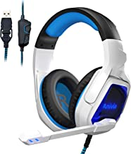 Sponsored Ad - Younux Gaming Headset, Headphones with Microphone for PS4, PS5, PC, Xbox One Noise Cancelling, LED, Soft Ea...