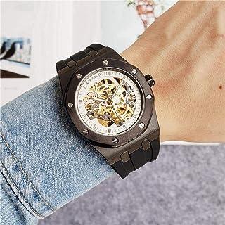 yuge - Reloj Hombre, Reloj mecánico automático con Esqueleto, Esqueleto Dorado, Relojes Retro para Hombre y Mujer, Relojes para Hombre 2