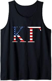 Kappa Gamma KG Fraternity American Flag Backdrop USA Pride Tank Top