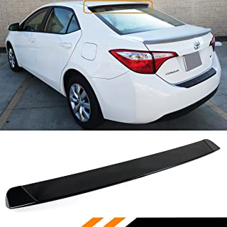 Cuztom Tuning Fits for 2014-2019 Toyota Corolla JDM Sport Glossy Black Rear Window Roof Spoiler Visor