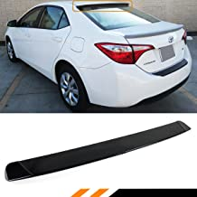 Cuztom Tuning Fits for 2014-2018 Toyota Corolla JDM Sport Glossy Black Rear Window Roof Spoiler Visor