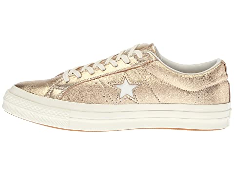 converse one star heavy metallic leather ox