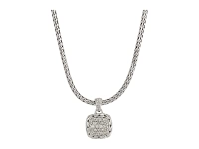John Hardy Classic Chain Pendant Necklace with Diamonds (Silver) Necklace