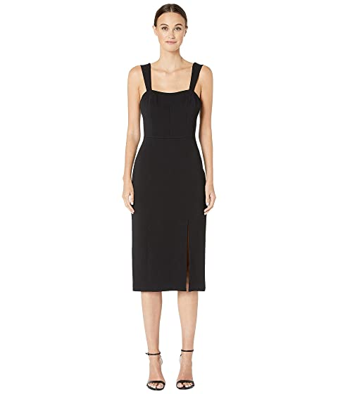 Adam Lippes Stretch Sable Fitted Dress w/ Sweetheart Neckline
