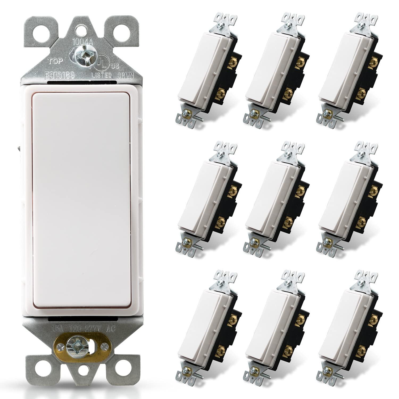 100% quality warranty ELEGRP Single Limited time sale Pole Decorative Light Dec Switch 120 277V 15Amp