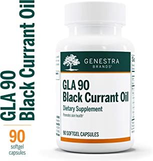 Genestra Brands - GLA 90 Black Currant Oil - Promotes Optimal Skin Health and Supports Overall Health* - 90 Capsules