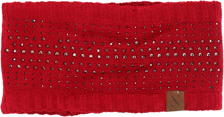 Nollia Women's Studded Fleece Lined Winter Headband