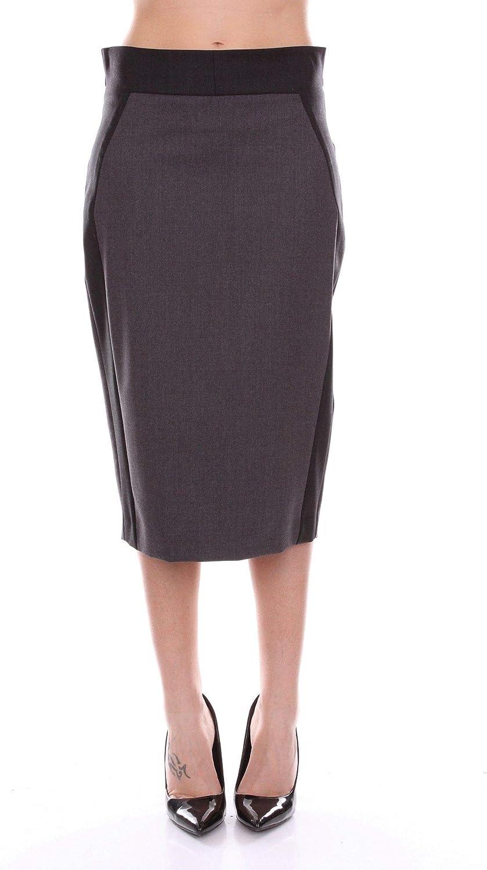 D.Exterior Women's 47925GREY Grey Wool Skirt