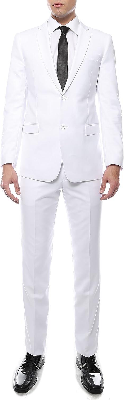 Ferrecci Men's Zonettie 2 Piece 2 Button Slim Fit Suit
