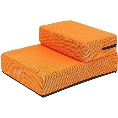ペットスタイル (Pet Style) ドッグステップ メッシュ 階段 ペット 2段 ステップ 犬 ソフトタイプ HK40 (オレンジ)