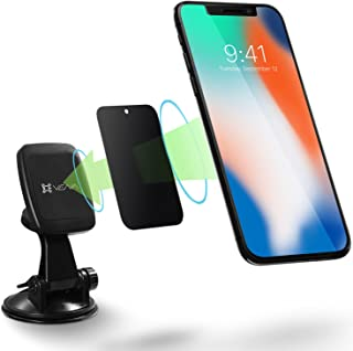 Car Phone Mount, Vena [6Netic] Magnetic Car Mount, Windshield & Dashboard Suction Cup Holder for iPhone XR XS MAX X 8 Plus, Galaxy Note 9 S9 S8 Plus, Google Pixel 3/3 XL, LG, HTC, Motorola G6 - Black