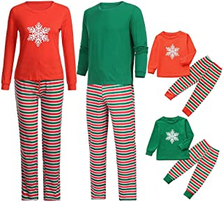 8b7b9c534a Christmas Holiday Pj Pajamas Snowflake Top Stripe Pants Match Pajamas Pjs  Collection Family Clothes Nightwear Set