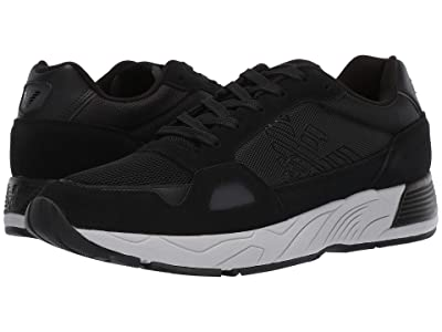 Emporio Armani Mixed Media Runner Sneaker (Black) Men