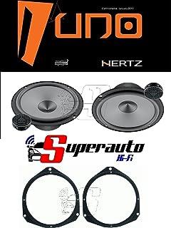 Hertz Linie UNO K165 K 165 Lautsprecher Set für Auto Lautsprecher 165 mm + Halterungen für Opel Astra H ab 2005 und Corsa D ab 2006 vorne 165 cm