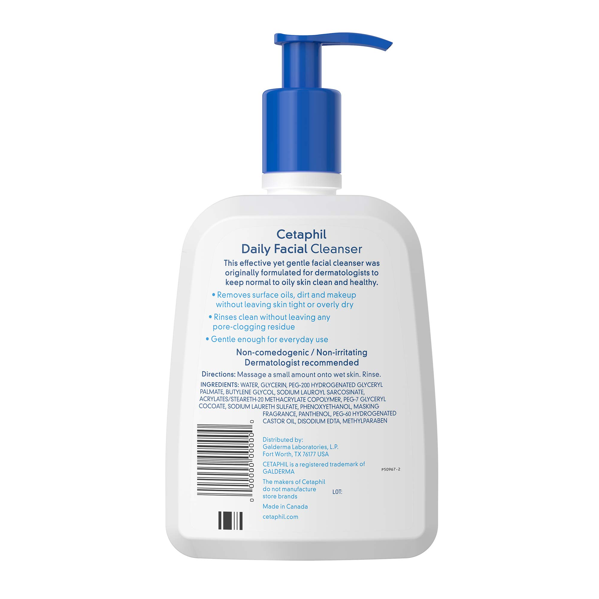 Face Wash by Cetaphil, Daily Facial Cleanser for Combination to Oily Sensitive Skin, 16 oz Pack of 2, Gentle Foaming Deep Clean Without Stripping
