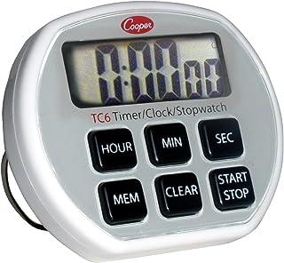 Cooper-Atkins Digital Timer / Clock / Stopwatch with Splashproof Case, 24 Hours Unit Range
