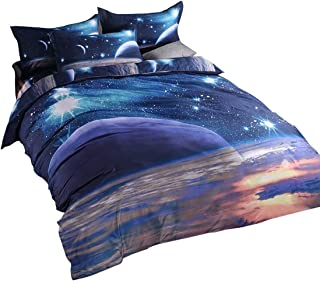 YOU SA 3D Galaxy Starry Bedding Galaxy Bedroom Set Twin (08)