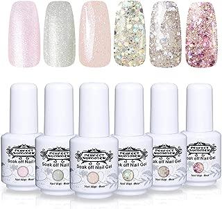 Perfect Summer Popular Glitter Gel Polish Color 6PCS Gel Nails Varnish Soak Off UV LED Manicure Starter Kit 8ML 087