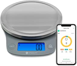 Etekcity Smart Food Nutrition Scale, Digital Grams and Ounces for Weight Loss, Baking, Cooking, Keto and Meal Prep, Large-...