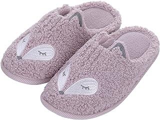 Sponsored Ad - shevalues Cute Fox Slippers for Women Kids Fuzzy Animal Memory Foam House Slippers Waterproof Sole Home Sli...