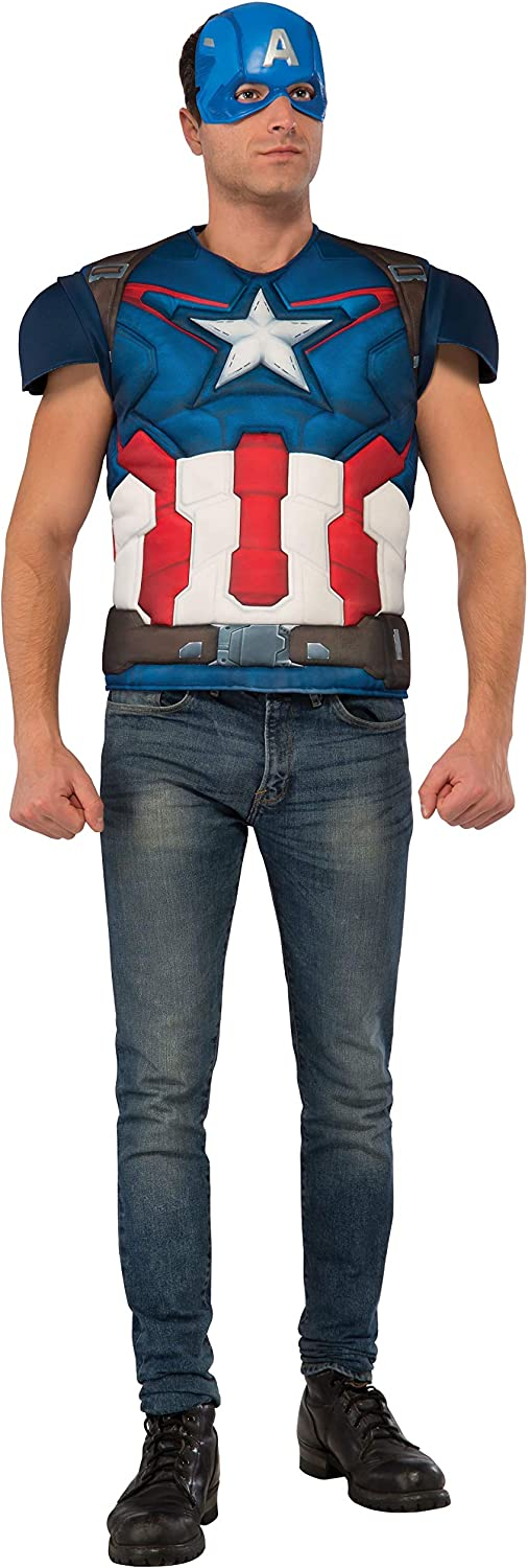 Rubie's Avengers Import Age of Ultron Adult America Captain Ches Muscle Fixed price for sale