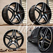 NEW 19 Inch x 8.5/9.5 CL63 AMG Double Spokes Style Staggered Wheels Rims 5 lug Black Machine Face compatible with MERCEDES BENZ CL CLASS Set of 4