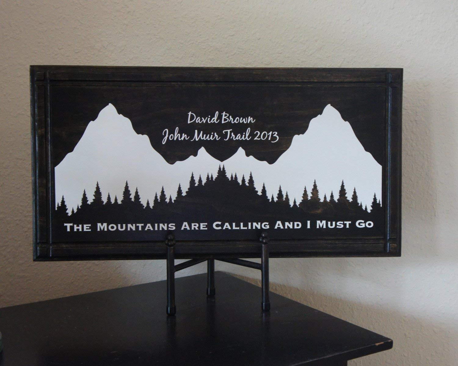 Personalized John favorite Free shipping on posting reviews Muir Trial Mountai sign plaque. The