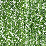 ✅High Quality:These artificial Vines Leaves are made of soft light weight fabric ,durable and reusable,Flexible stem can be wired to bend and shape to your desired look .Natural leaves design, look like REAL tropical leaves. ✅Perfect Decors:Use each ...