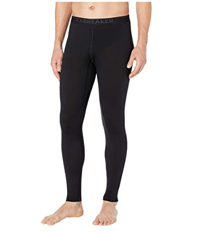 Icebreaker 200 Oasis Merino Base Layer Leggings (Black/Monsoon) Men