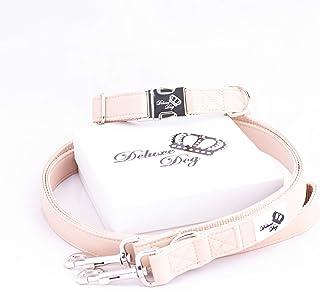 Deluxe Dog Basics - Collar para Perro y Correa para Perros en el Conjunto, Incluye Elegante Caja de Regalo/Elegante y Ajustable.