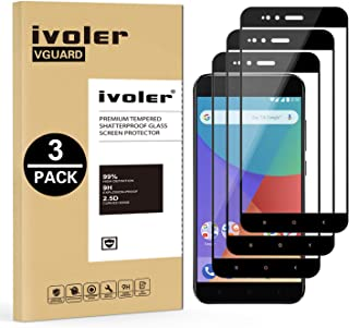iVoler [3 Unidades] Protector de Pantalla para Xiaomi Mi A1, [Cobertura Completa] Cristal Vidrio Templado Premium, [Dureza 9H] [Anti-Arañazos] [Sin Burbujas]