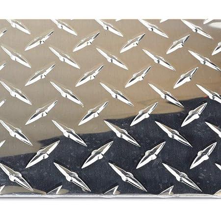 ".188 3//16/"" Aluminum Diamond Tread Plate 10/"" x 18/"""