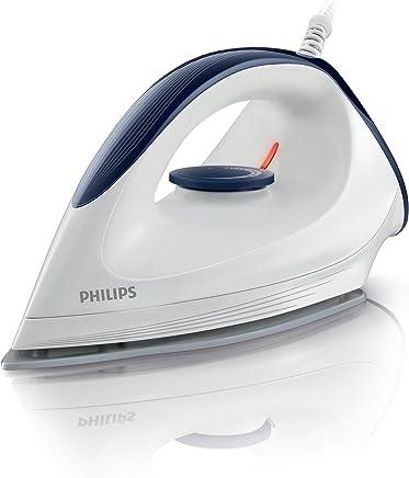 Philips GC160/02 - Plancha en seco con suela DynaGlide,1200 W, punta estrecha, control de temperatura fácil