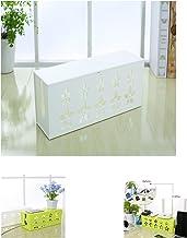 Yosposs - Boîte de rangement Créative pour prises et câbles électriques - motifs de fleur sculptée, blanc, Taille L