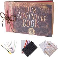 RECUTMS Album de Fotos, Pixar Up Álbum de Fotos Hecho a Mano DIY Family Scrapbook Extensible 11.6x7.5 Pulgadas 80 páginas con Kit de Accesorios de Bricolaje de la Caja, Our Adventure Book