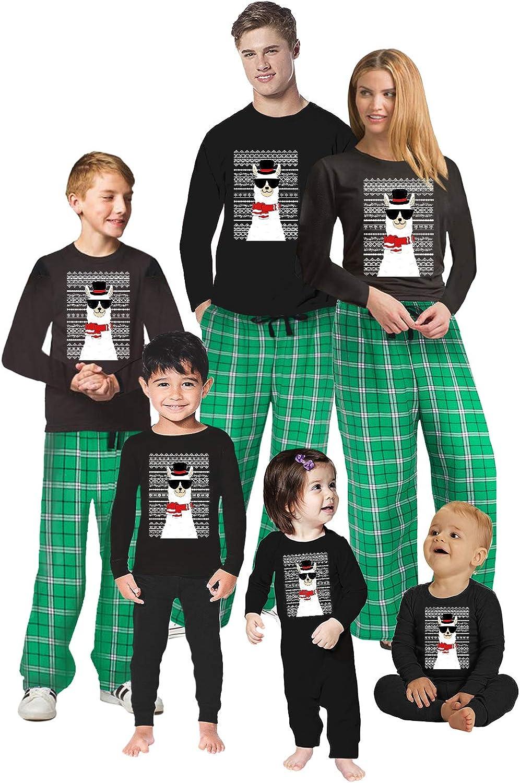 Awkward Styles Christmas Pajamas for Family Funny Xmas Llama Matching Christmas Sleepwear