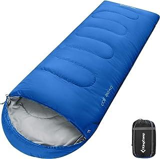 comprar comparacion KingCamp Saco de Dormir Ultraligero Rectangular Grande Individual para Adultos Camping Montaña Portátil Bolsa de Compresió...