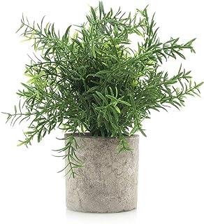 Velener Mini Potted Plastic Fake Green Plant Home Decor (Bamboo Leaves)