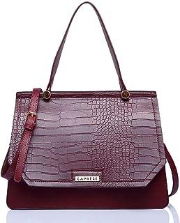 Caprese Womens Snap Closure Satchel Handbag