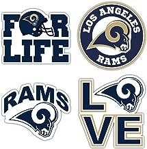 Los Angeles City Ram Football Logo Die-Cut Decal Sticker 5 Longer Side Set of 4 Pieces