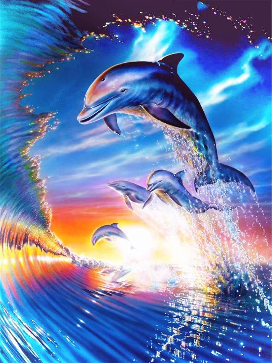 5D Super intense SALE Diamond Painting Accessorie Kitss Dolphin specialty shop