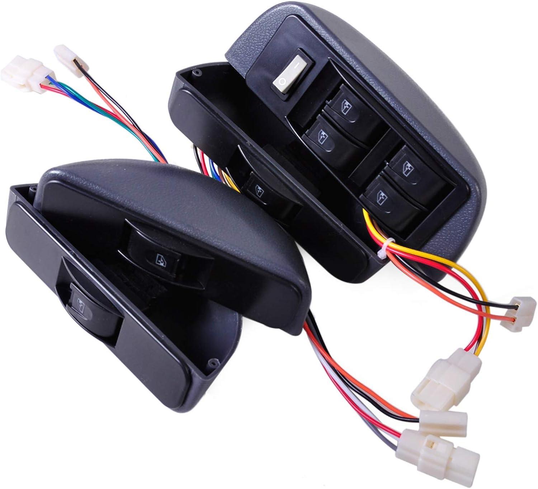 Lfldmj Kit de Bloqueo de Ventana eléctrica 4 Interruptor basculante Interruptor de Ventana 12V Coche 4 Puertas, para Ford, para Hyundai, para Nissan, para Chevrolet, para Honda